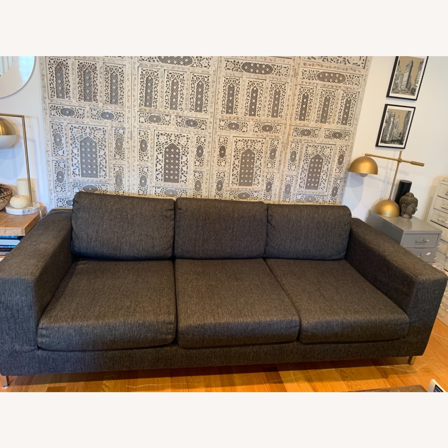 Gus Modern Gray Couch - image-1