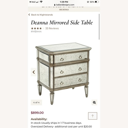 Used Ballard Designs Deanna Mirrored Side Tables for sale on AptDeco