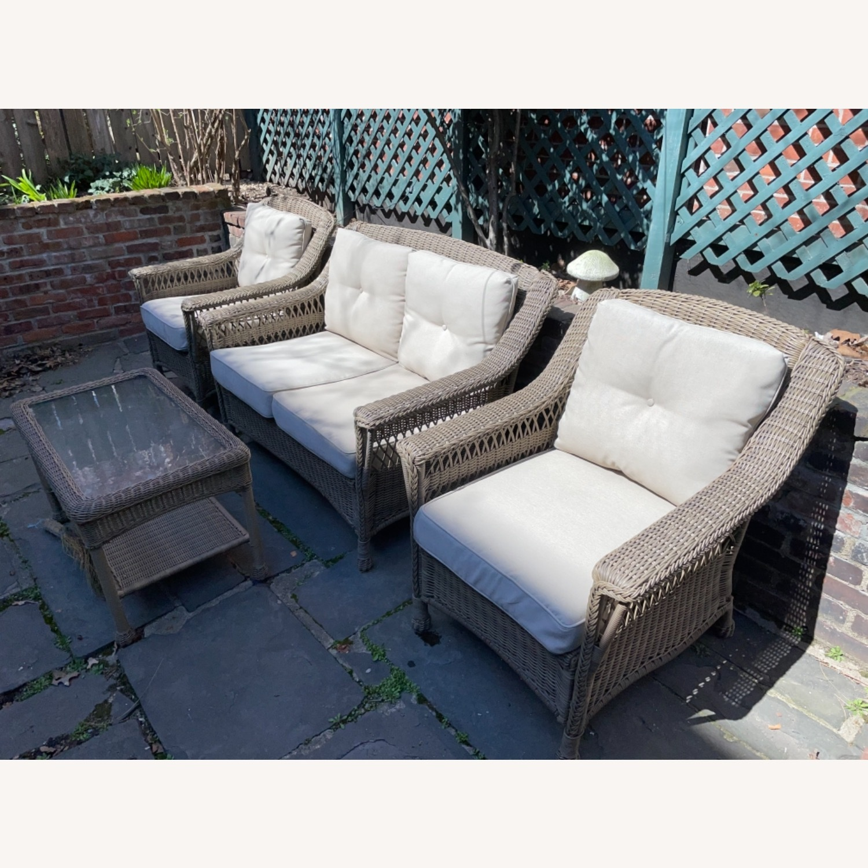 6 Piece Beige Outdoor Patio Furniture Set - image-23