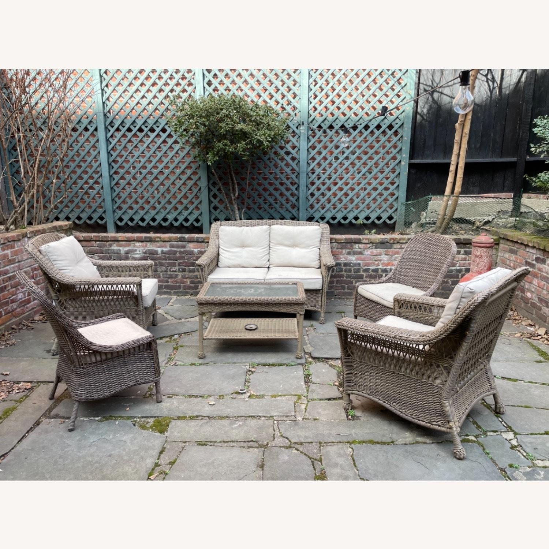 6 Piece Beige Outdoor Patio Furniture Set - image-4