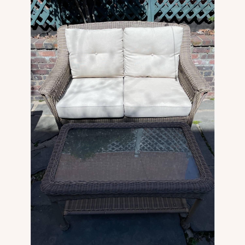 6 Piece Beige Outdoor Patio Furniture Set - image-13