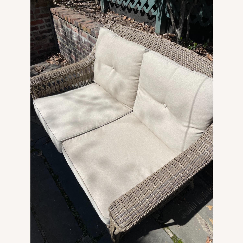 6 Piece Beige Outdoor Patio Furniture Set - image-8
