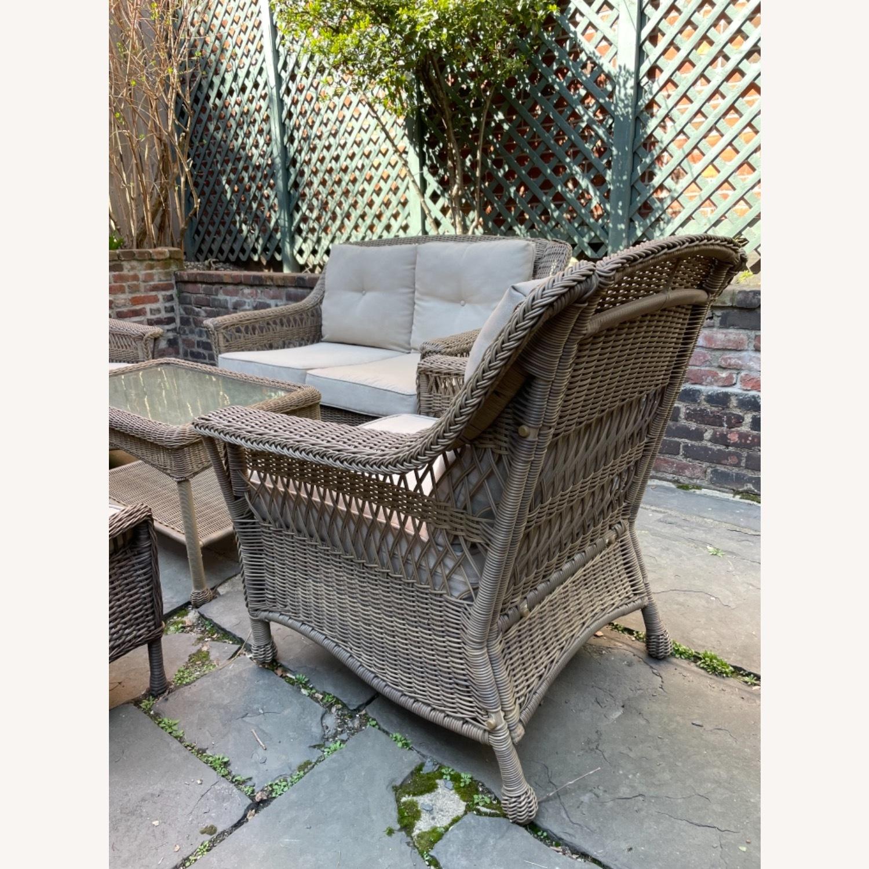 6 Piece Beige Outdoor Patio Furniture Set - image-29