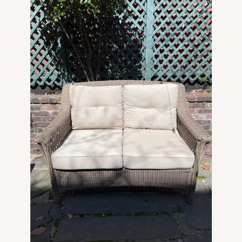 6 Piece Beige Outdoor Patio Furniture Set - image-6