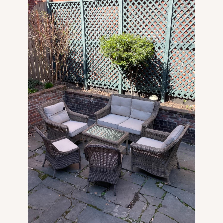 6 Piece Beige Outdoor Patio Furniture Set - image-1