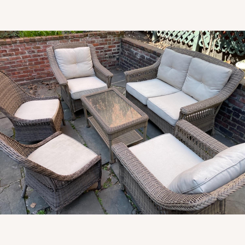6 Piece Beige Outdoor Patio Furniture Set - image-3