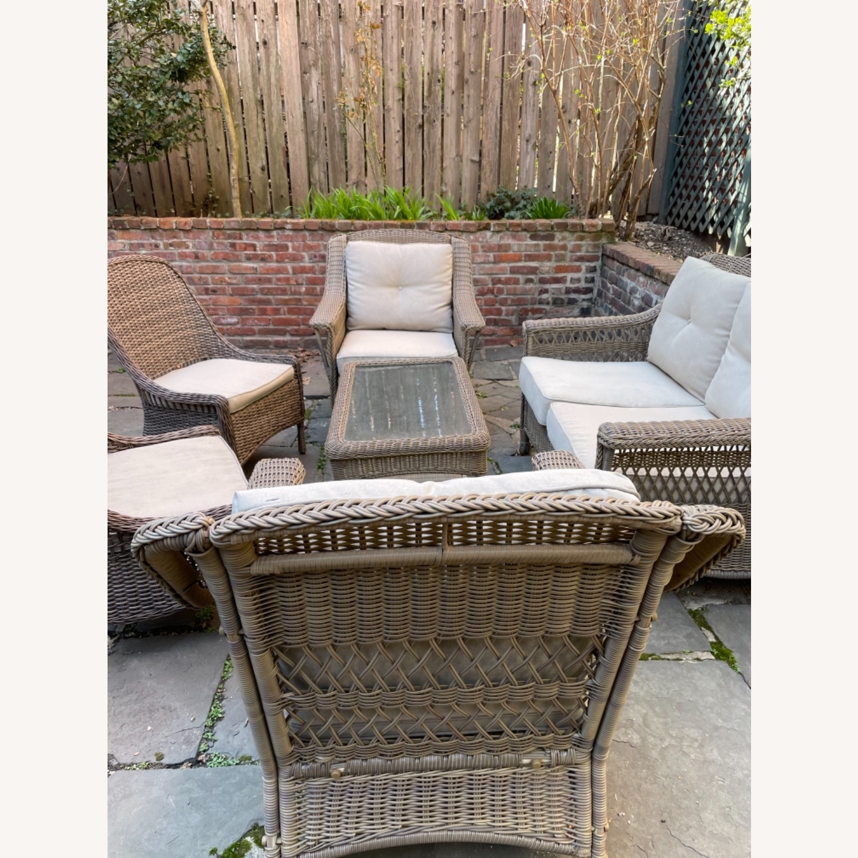 6 Piece Beige Outdoor Patio Furniture Set - image-27