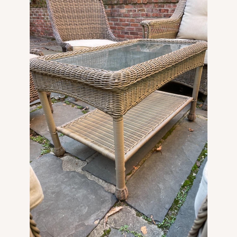 6 Piece Beige Outdoor Patio Furniture Set - image-32