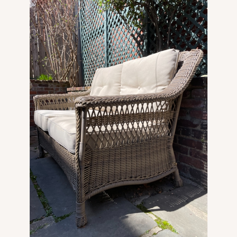 6 Piece Beige Outdoor Patio Furniture Set - image-14