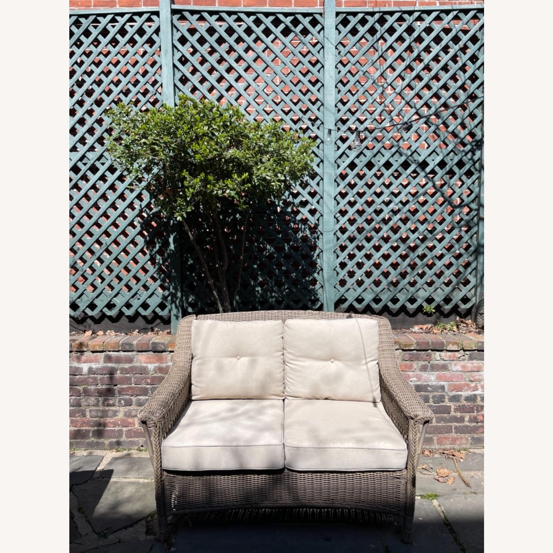 6 Piece Beige Outdoor Patio Furniture Set - image-7