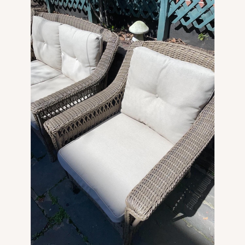 6 Piece Beige Outdoor Patio Furniture Set - image-22