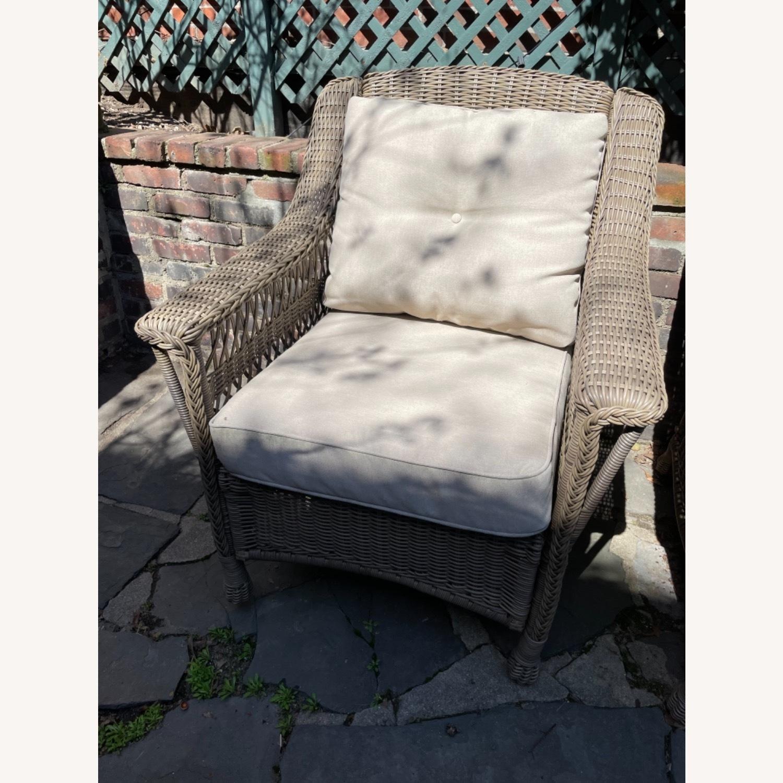 6 Piece Beige Outdoor Patio Furniture Set - image-16