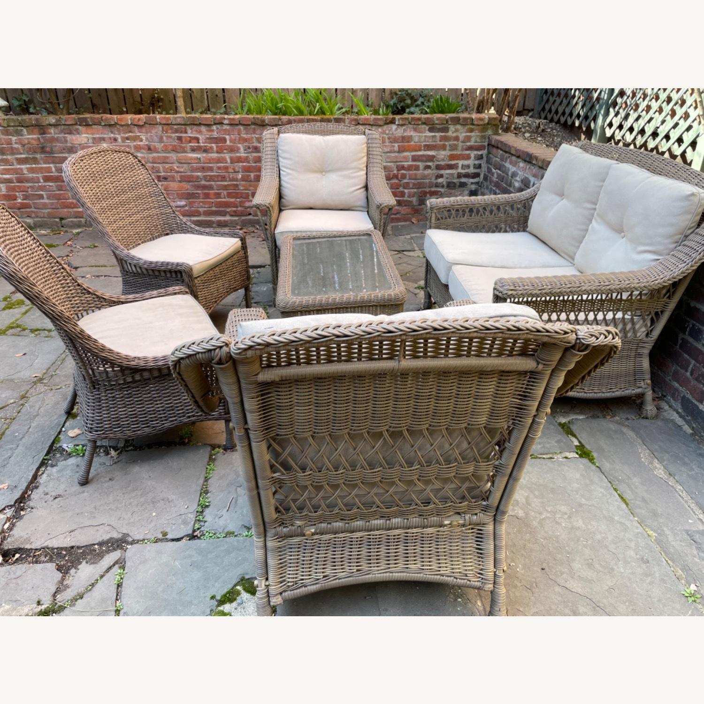 6 Piece Beige Outdoor Patio Furniture Set - image-28