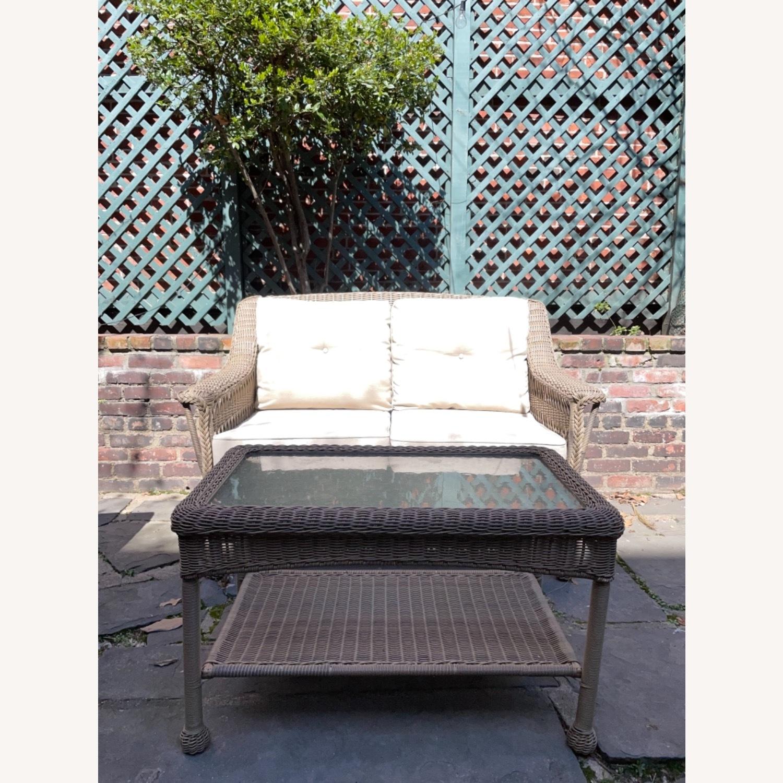6 Piece Beige Outdoor Patio Furniture Set - image-12