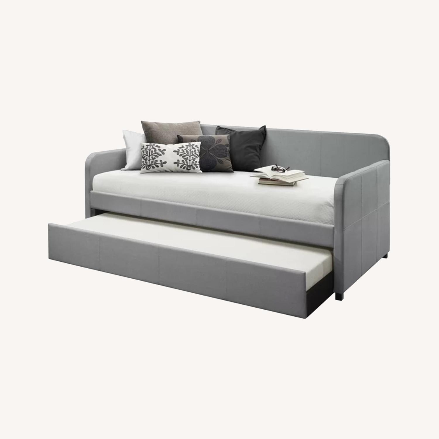 Wayfair Upholstered Long Twin Daybed with Trundle Storage - image-0
