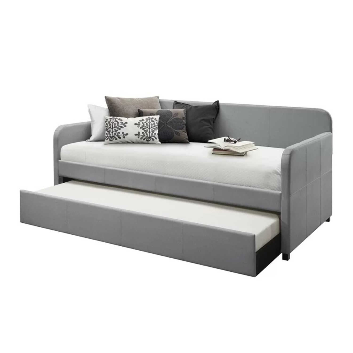 Wayfair Upholstered Long Twin Daybed with Trundle Storage - image-1