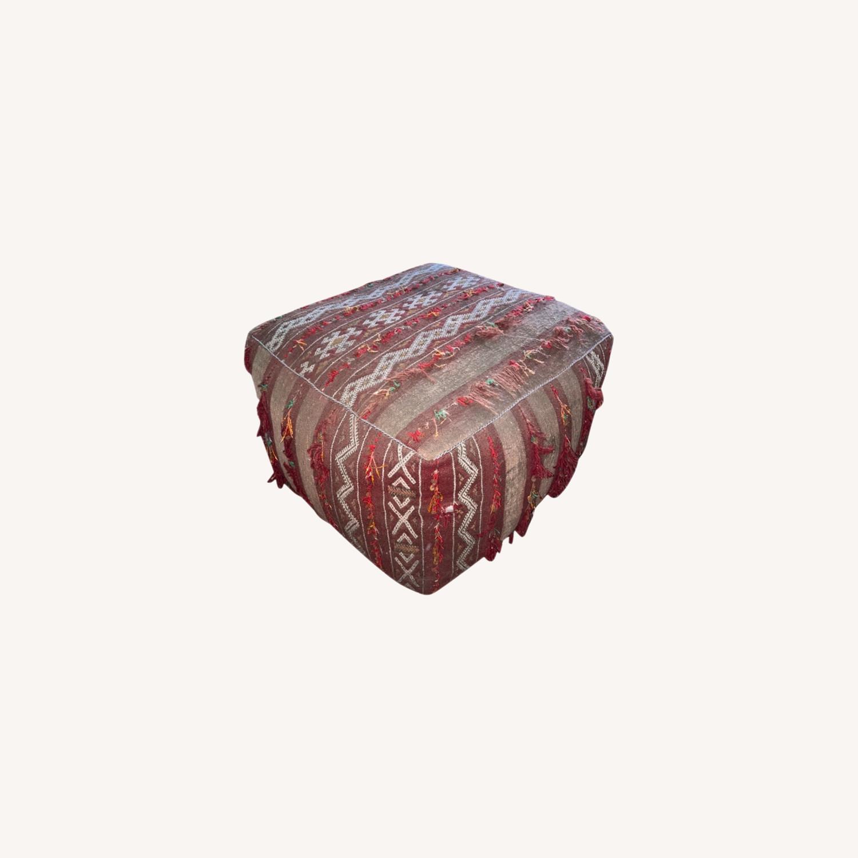 ABC Carpet & Home Vintage Moroccan Ottoman Pouf - image-0