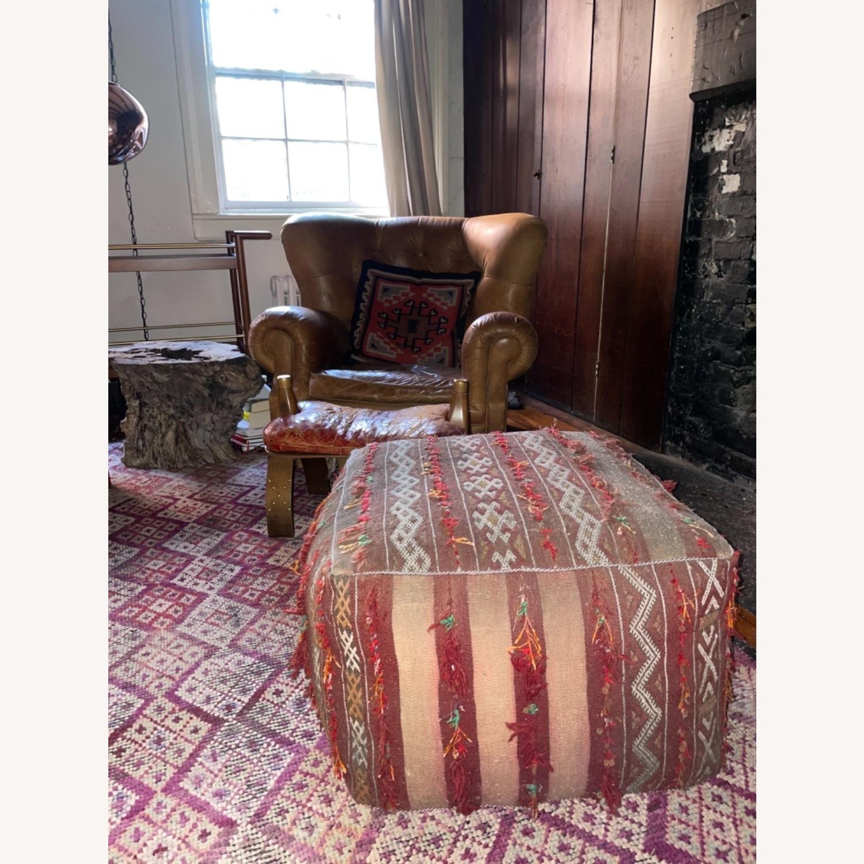 ABC Carpet & Home Vintage Moroccan Ottoman Pouf - image-8