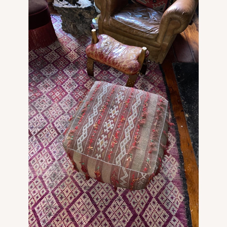 ABC Carpet & Home Vintage Moroccan Ottoman Pouf - image-6