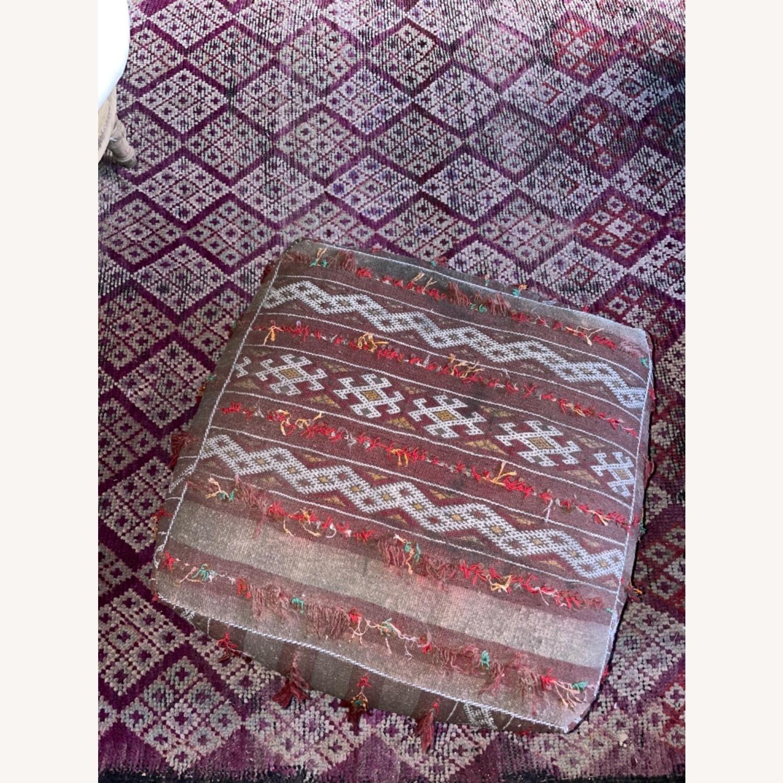 ABC Carpet & Home Vintage Moroccan Ottoman Pouf - image-5