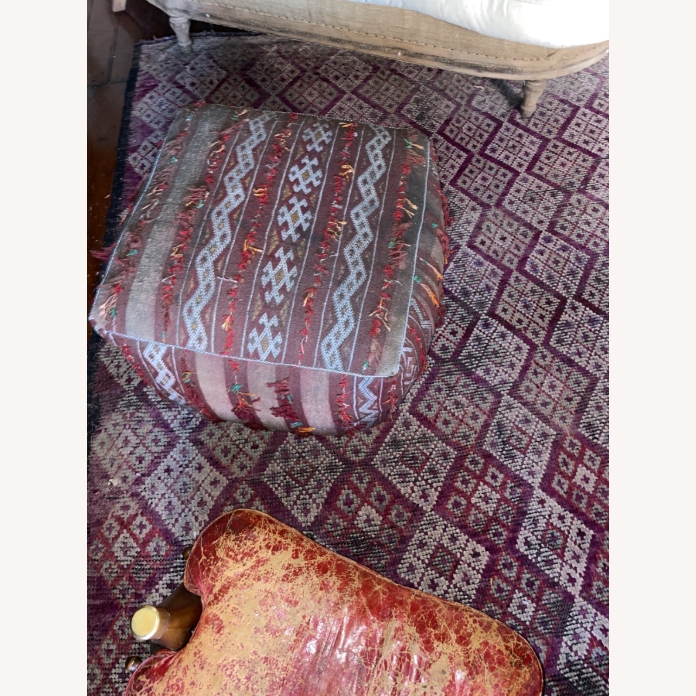 ABC Carpet & Home Vintage Moroccan Ottoman Pouf - image-2