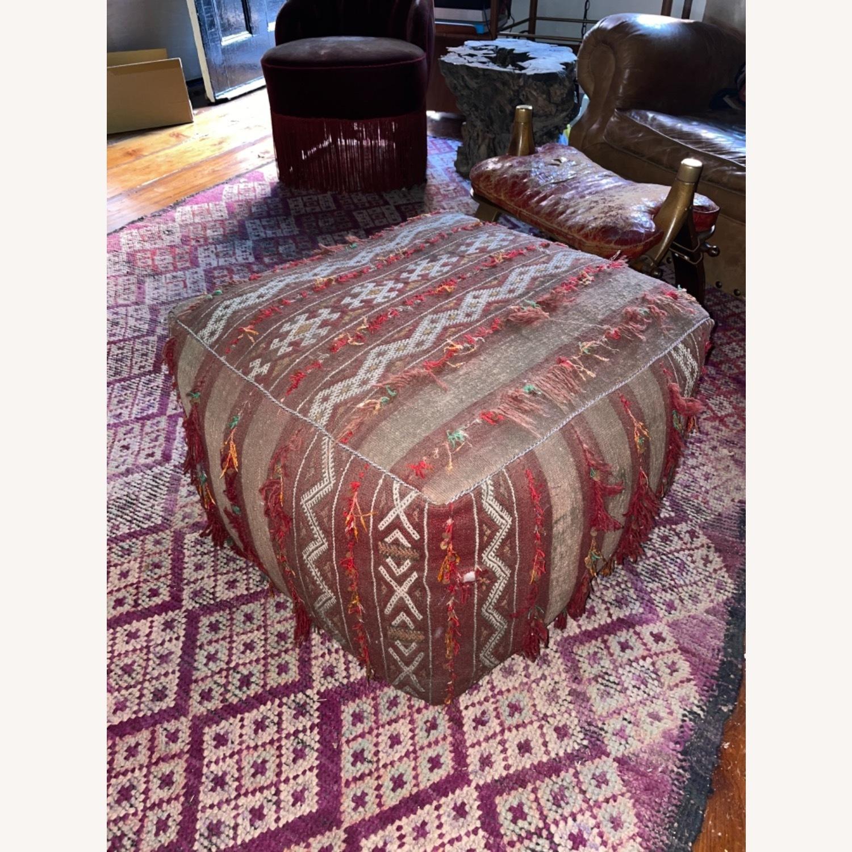 ABC Carpet & Home Vintage Moroccan Ottoman Pouf - image-1