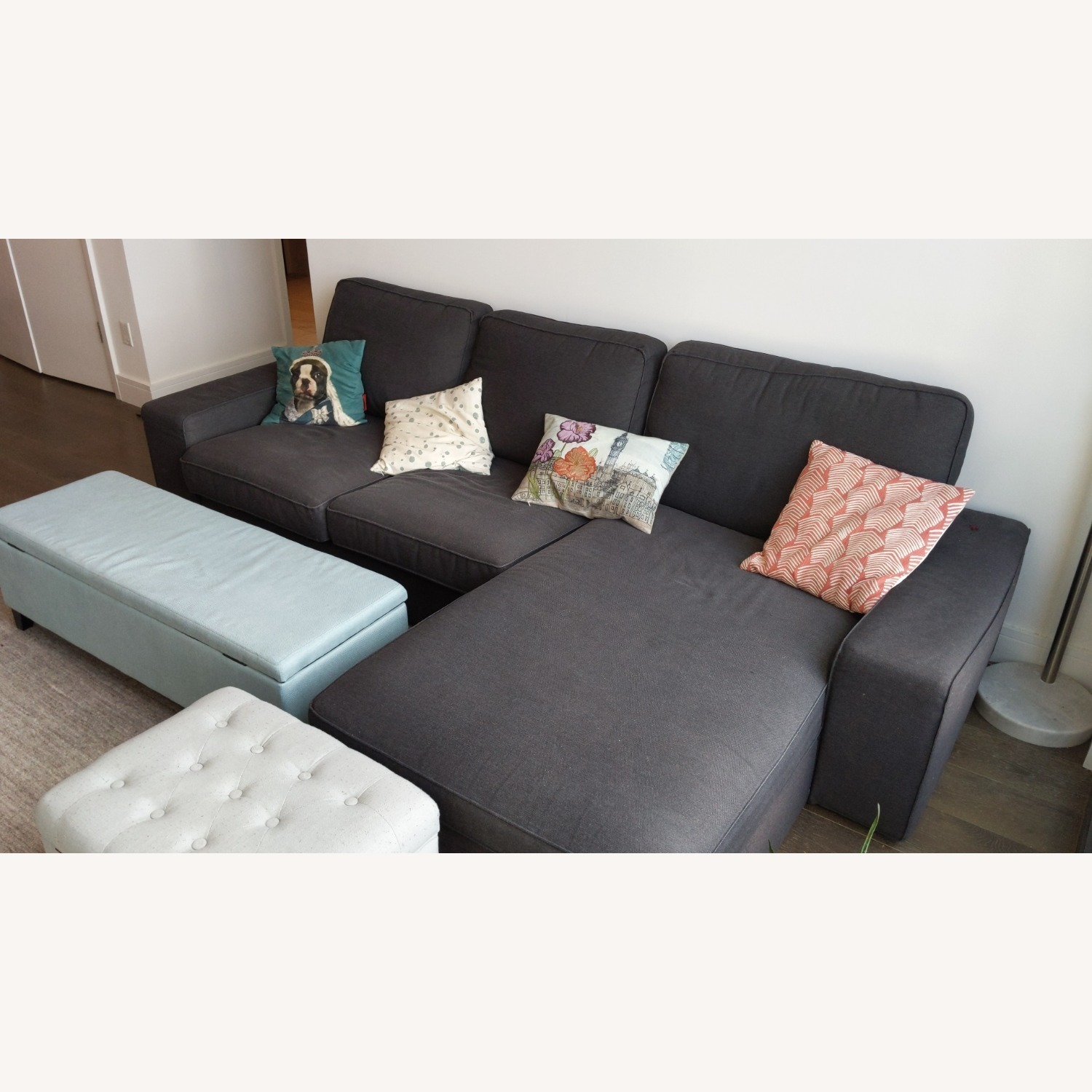 IKEA 4 Person L Shaped Couch - image-3