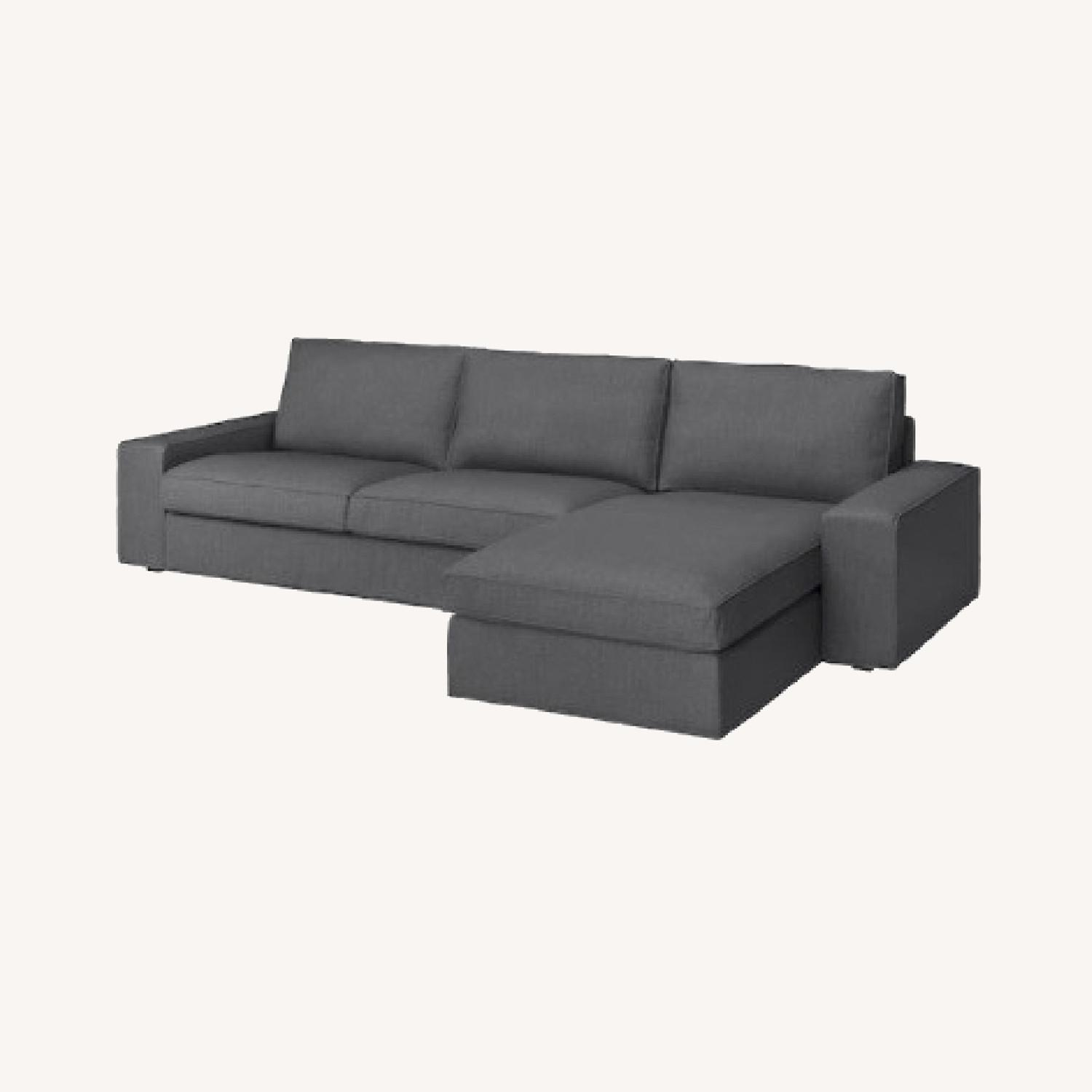 IKEA 4 Person L Shaped Couch - image-0