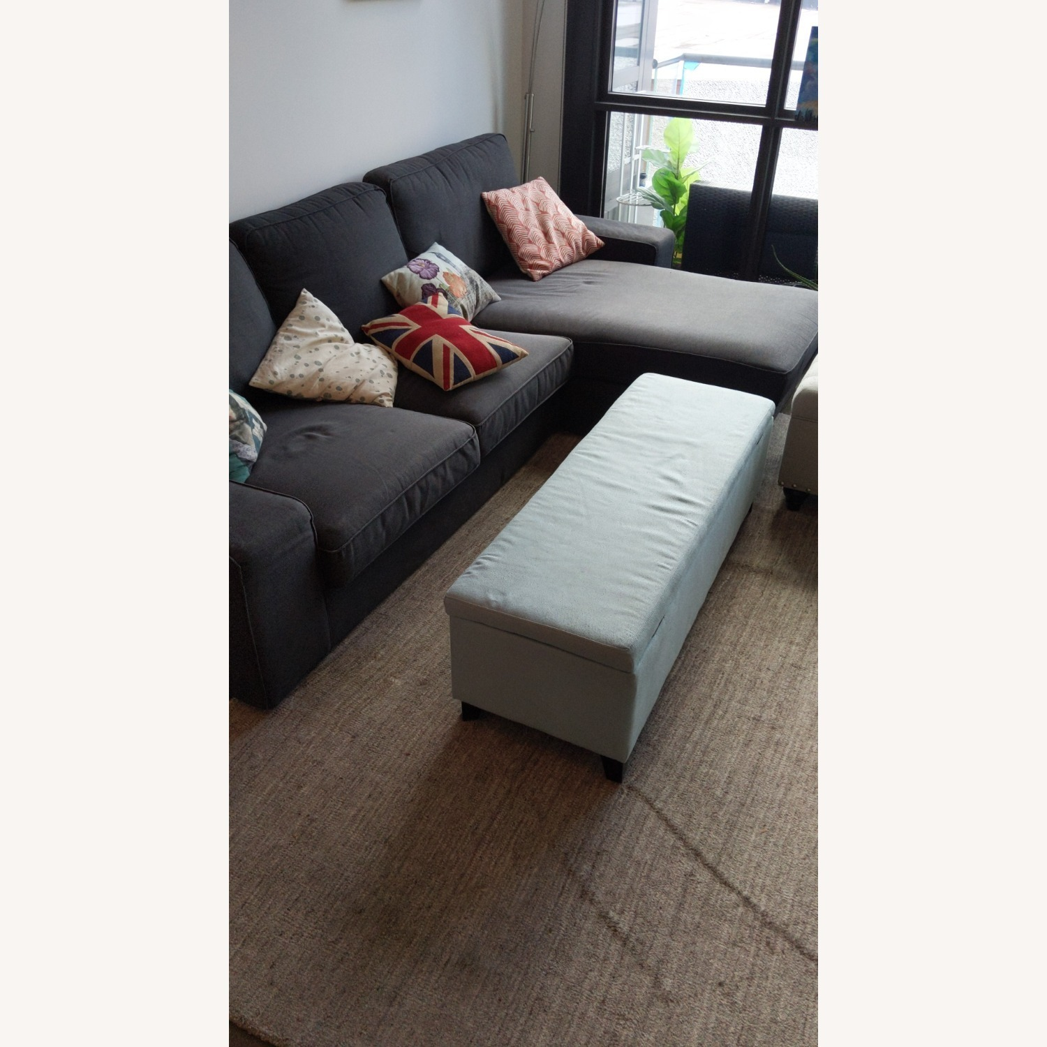 IKEA 4 Person L Shaped Couch - image-4