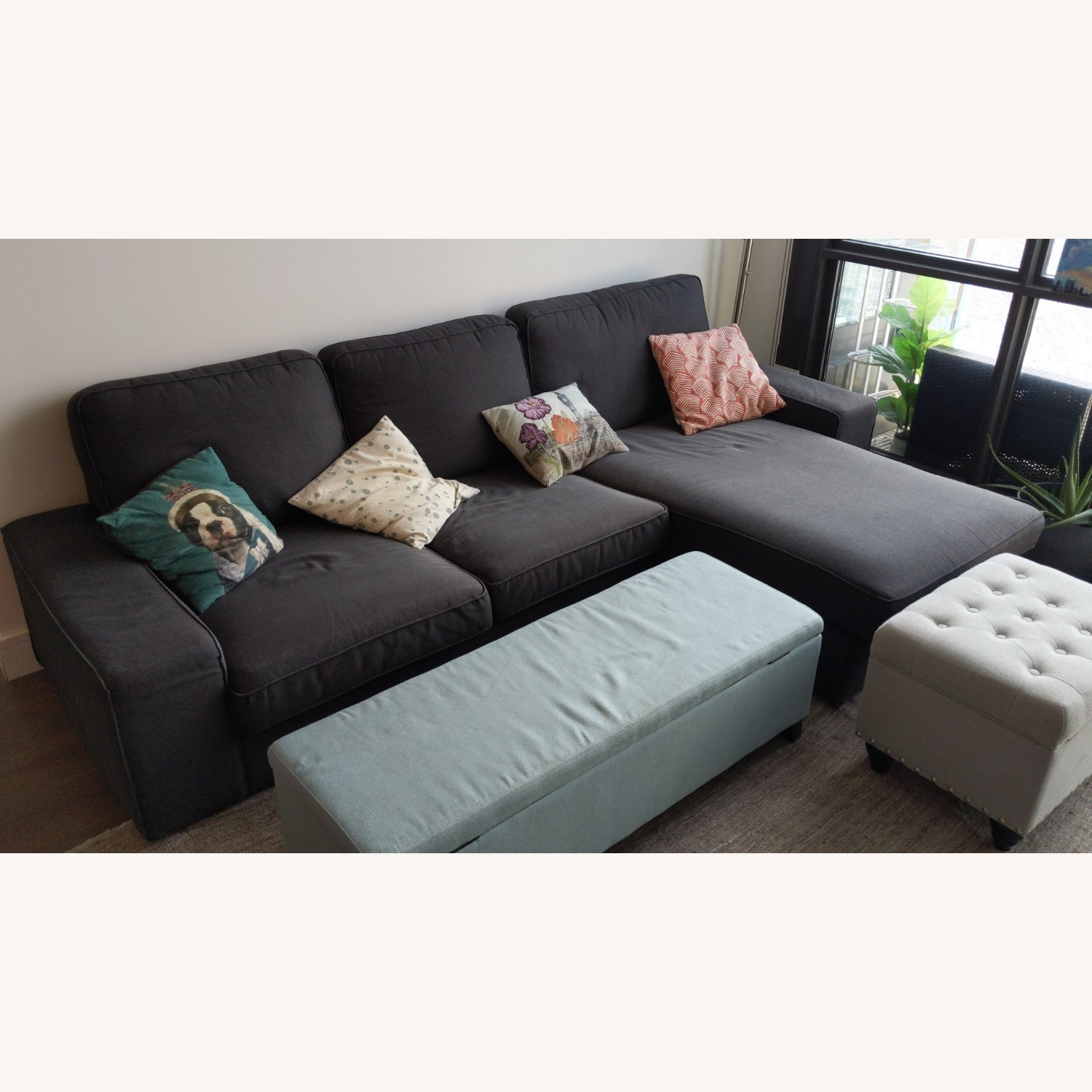 IKEA 4 Person L Shaped Couch - image-2