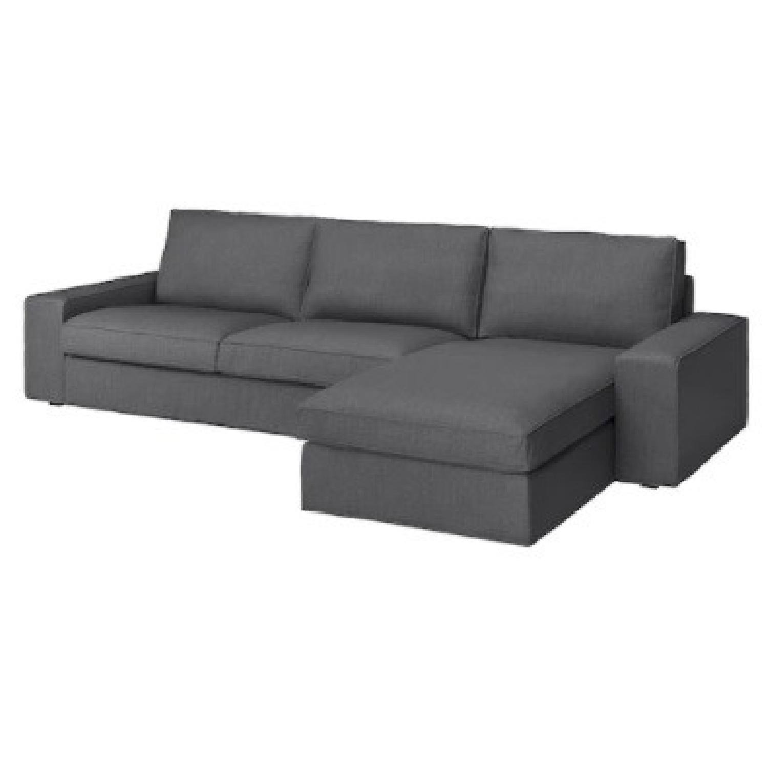 IKEA 4 Person L Shaped Couch - image-1
