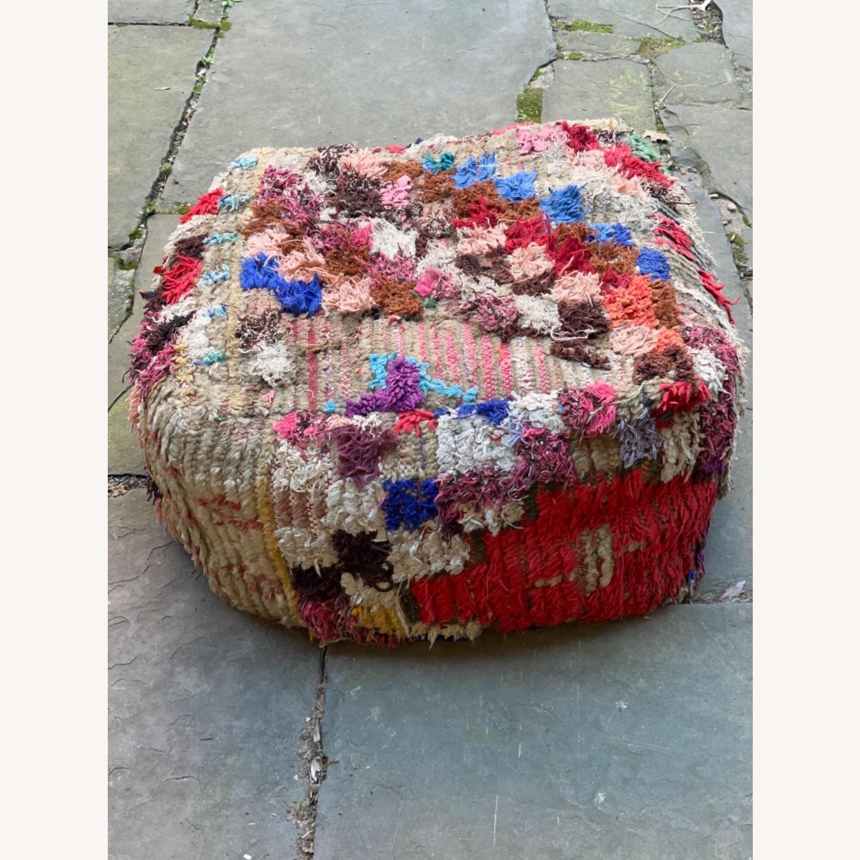 ABC Carpet & Home Vintage Moroccan Ottoman Pouf - image-4