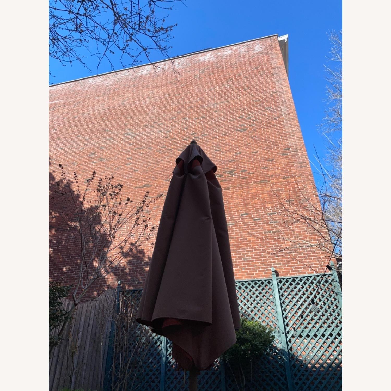Burnt Orange Outdoor Patio Garden Umbrella + Stand - image-10