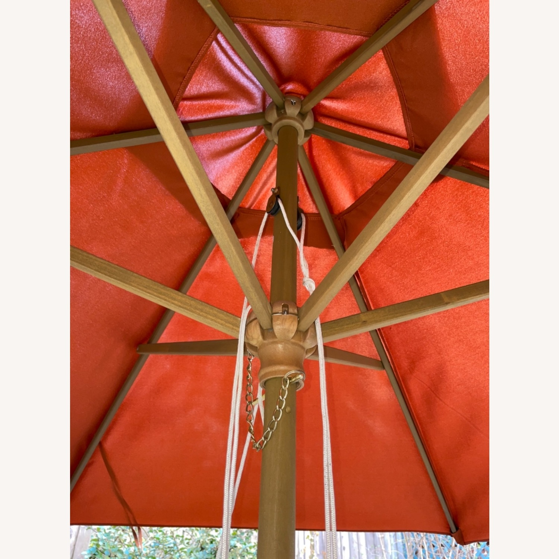 Burnt Orange Outdoor Patio Garden Umbrella + Stand - image-3