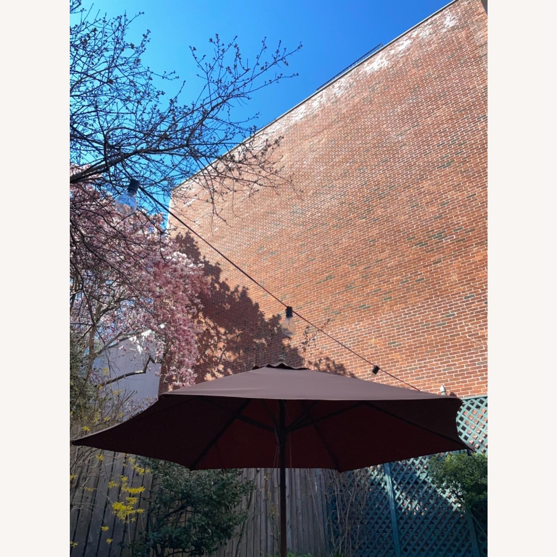 Burnt Orange Outdoor Patio Garden Umbrella + Stand - image-6