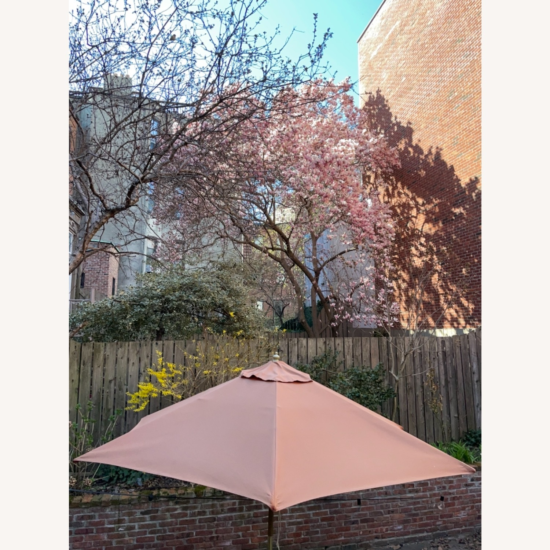 Burnt Orange Outdoor Patio Garden Umbrella + Stand - image-5
