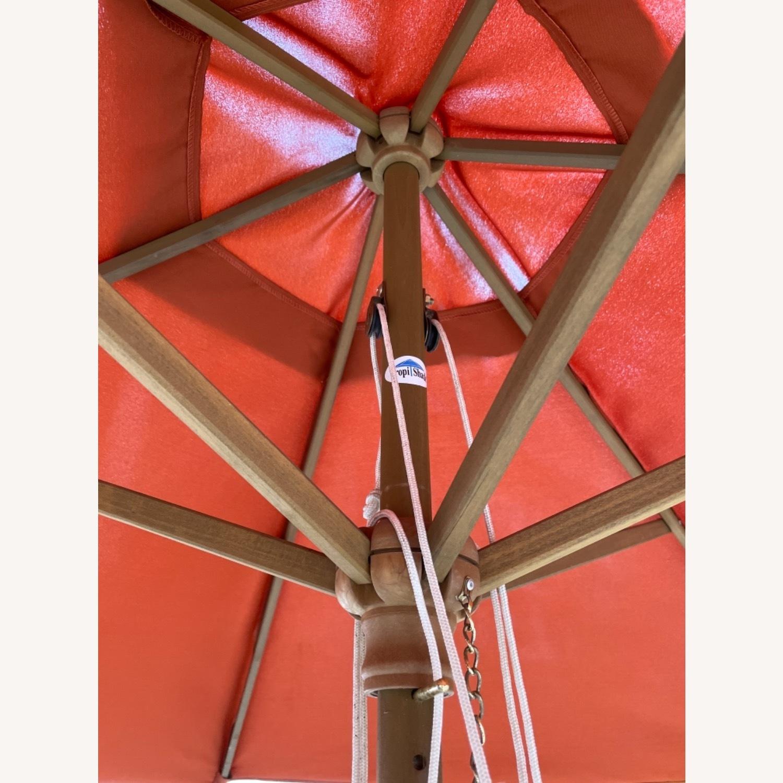 Burnt Orange Outdoor Patio Garden Umbrella + Stand - image-13