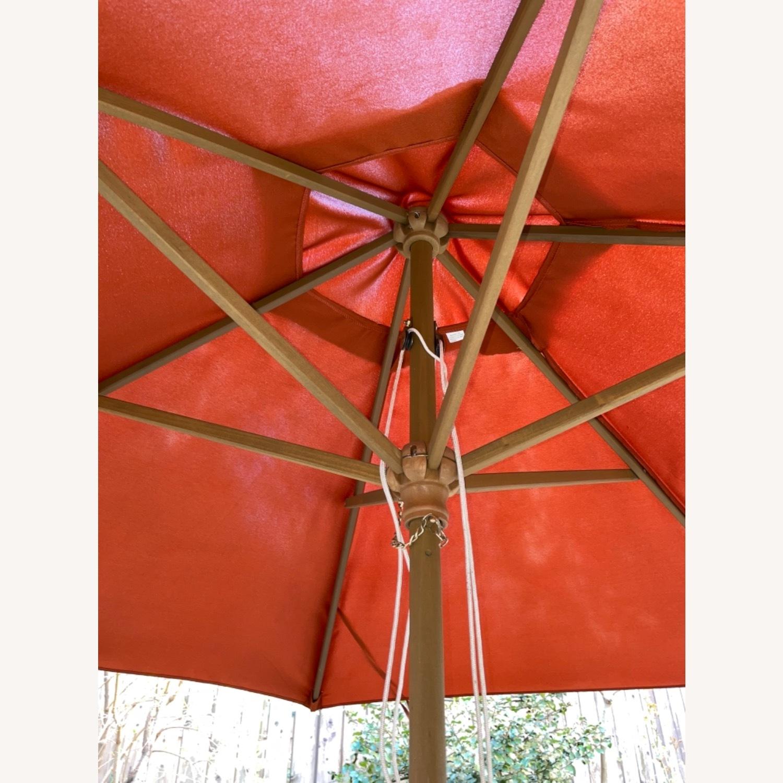 Burnt Orange Outdoor Patio Garden Umbrella + Stand - image-2