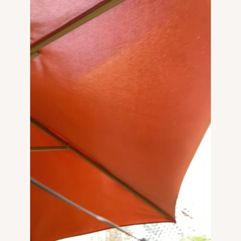 Burnt Orange Outdoor Patio Garden Umbrella + Stand - image-14