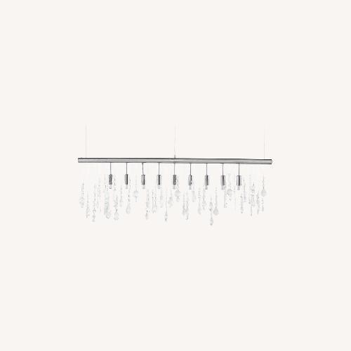 Used Nuevo Living (Burke Decor) Crystal Linear Pendant for sale on AptDeco