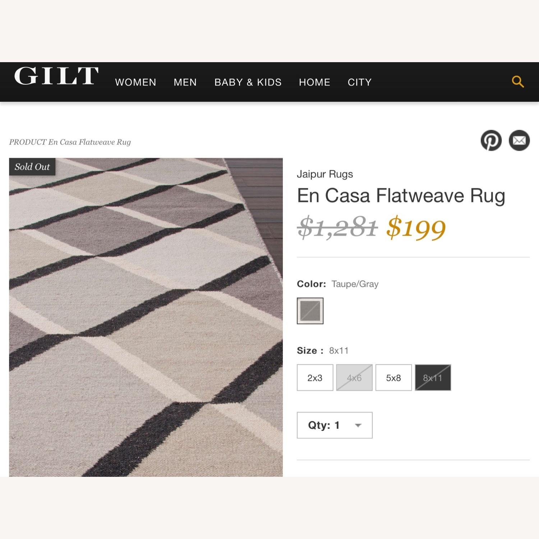 Jaipur Flatweave 8x11 Extra Large Wool Rug - image-4