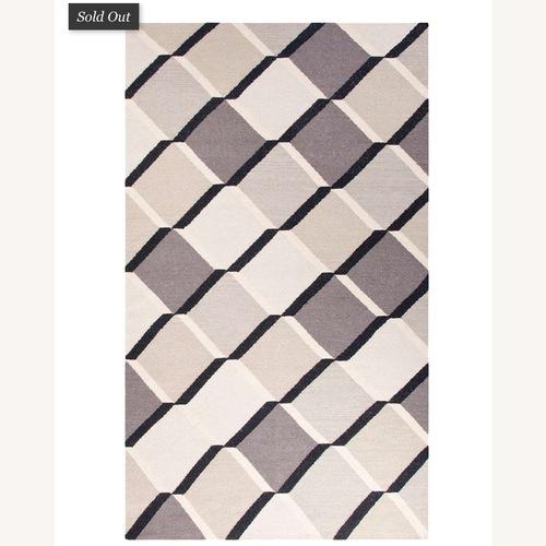 Used Jaipur Flatweave 8x11 Extra Large Wool Rug for sale on AptDeco