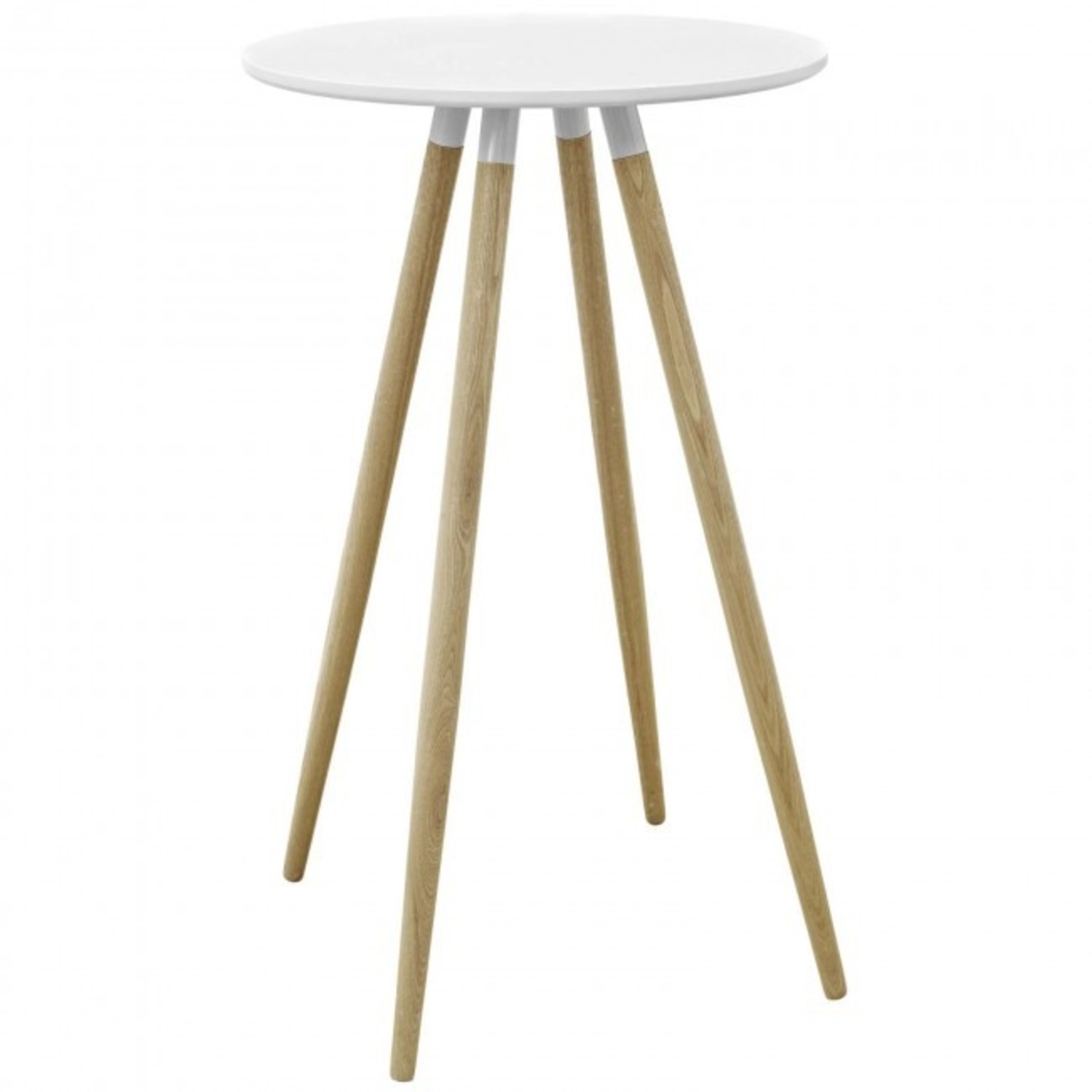 Track White Round Bar Table - image-1