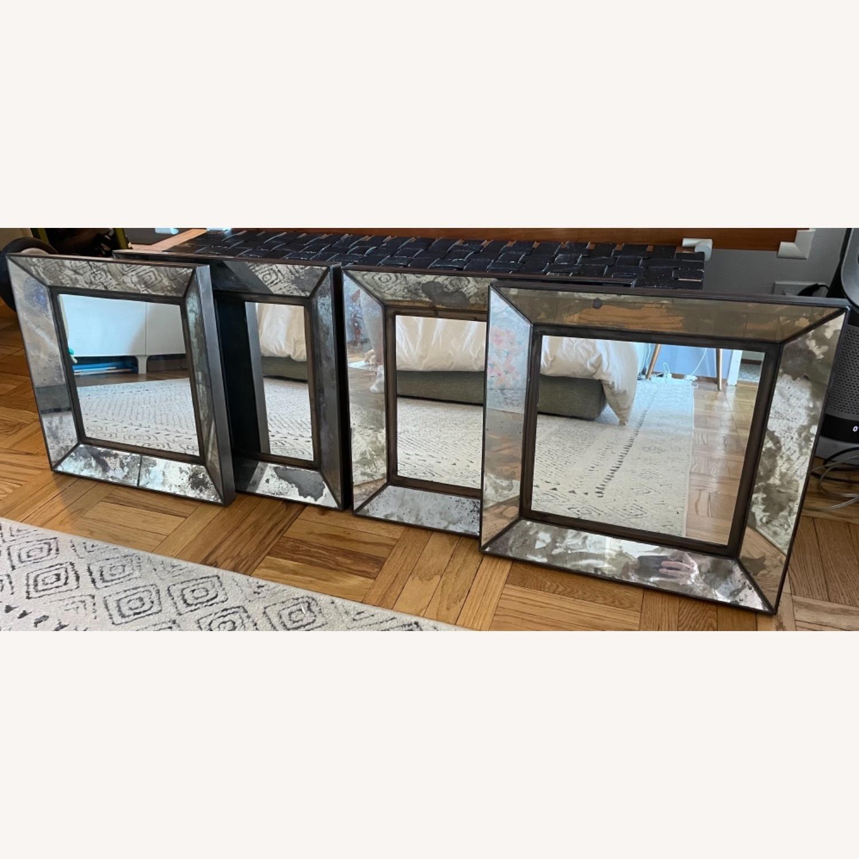 Crate & Barrel Dubois Square Mirrors - set of 4 - image-1