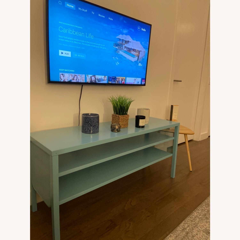 IKEA Slim & Teal TV Stand - image-0