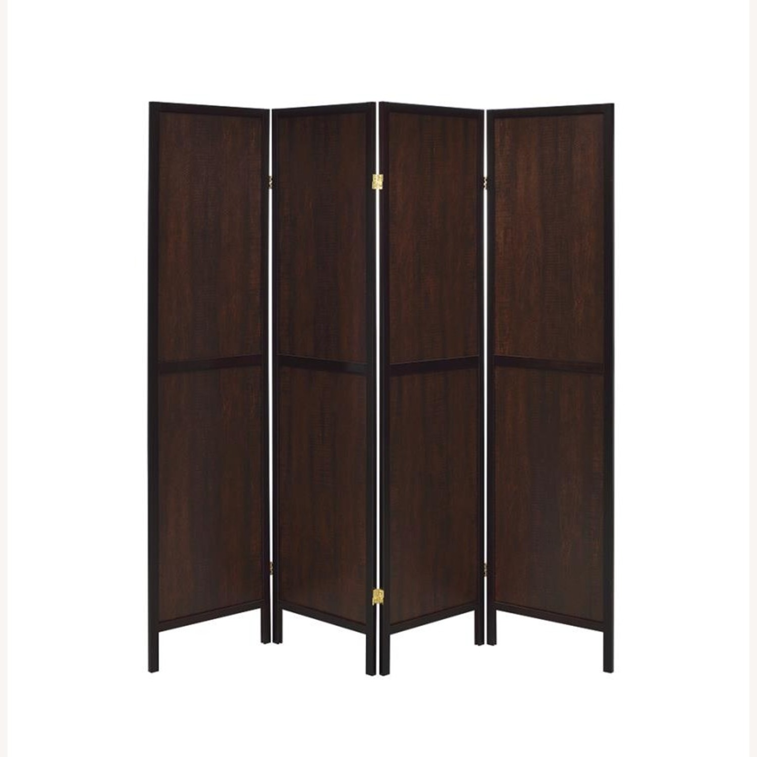 Panel Screen In Tobacco Finish & Cappuccino Frame - image-1
