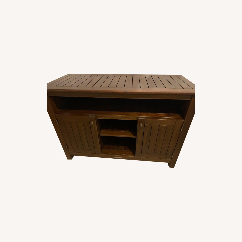 Pottery Barn Mahogany Outdoor Buffet - image-0