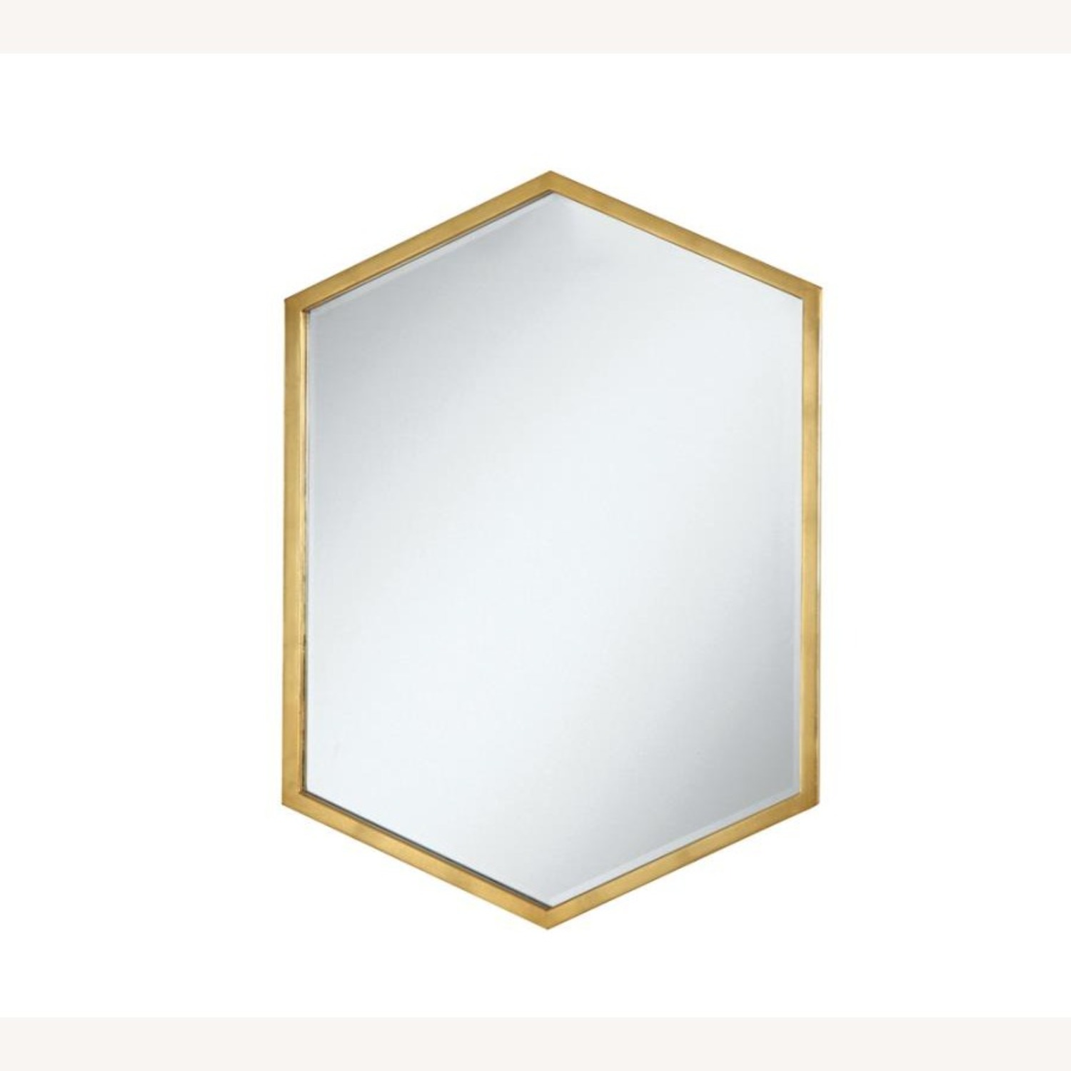 Mirror In Matte Gold Hexagon-Shaped Frame Finish - image-0