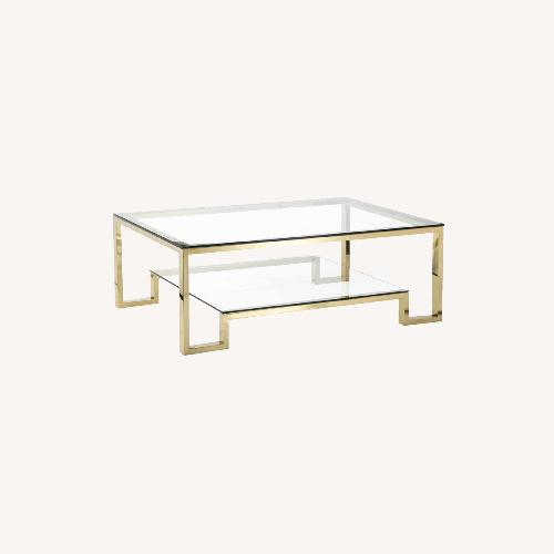Used One Kings Lane Laurence Coffee Table, Gold for sale on AptDeco