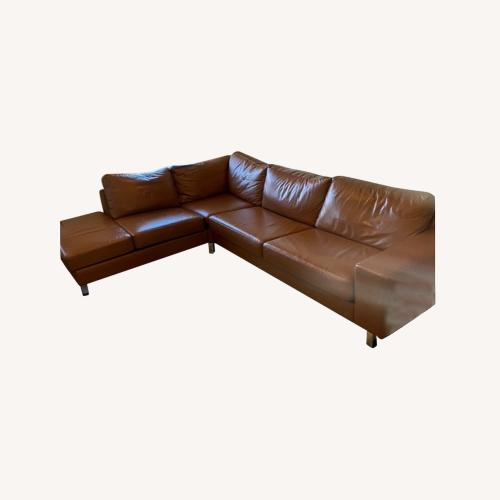 Used BoConcept Tan Leather Sectional for sale on AptDeco